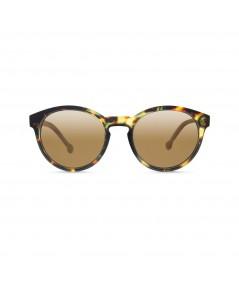 PARAFINA - Gafa reciclada marrón cristales dorados
