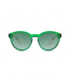 PARAFINA - Gafa reciclada verde patillas marrones
