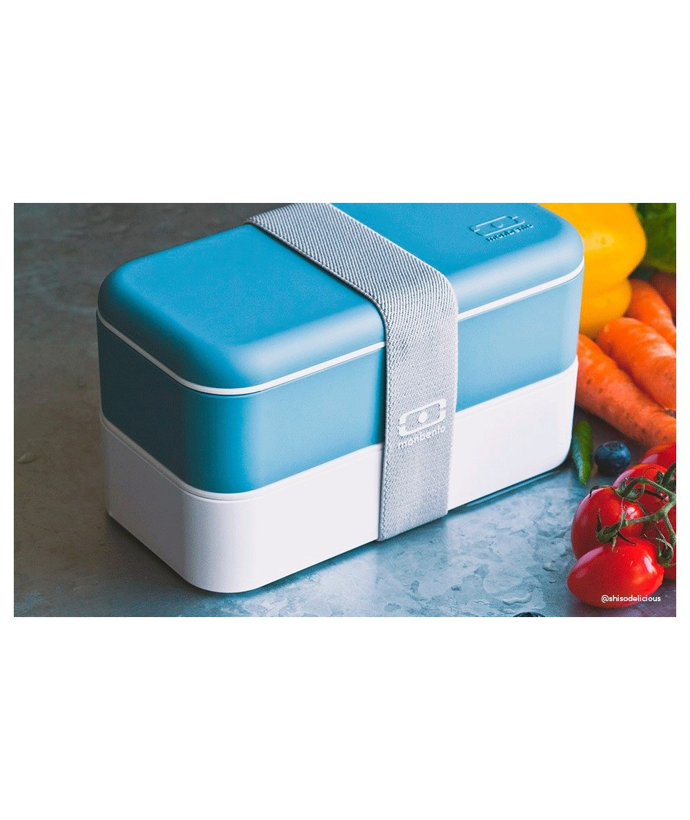 MONBENTO - Caja picnic- Azul y Blanco