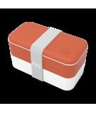 MONBENTO - Caja Picnic - Naranja y Blanco