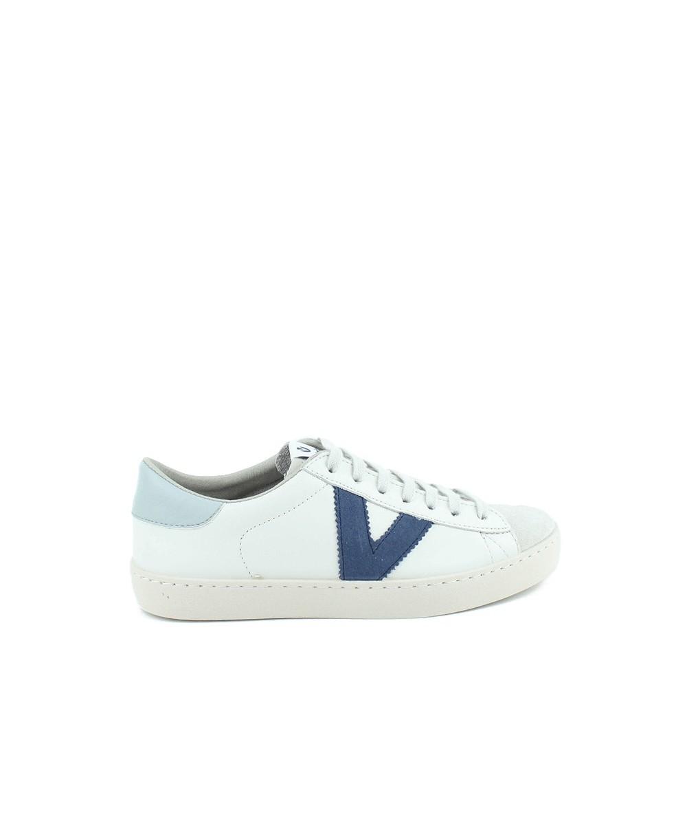 VICTORIA - 1126142 - Zapatilla Blanca y Azul