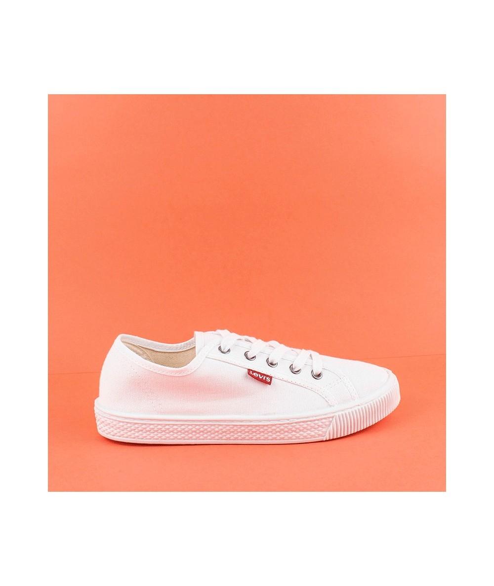 LEVIS - 225849 - Zapatilla lona blanca