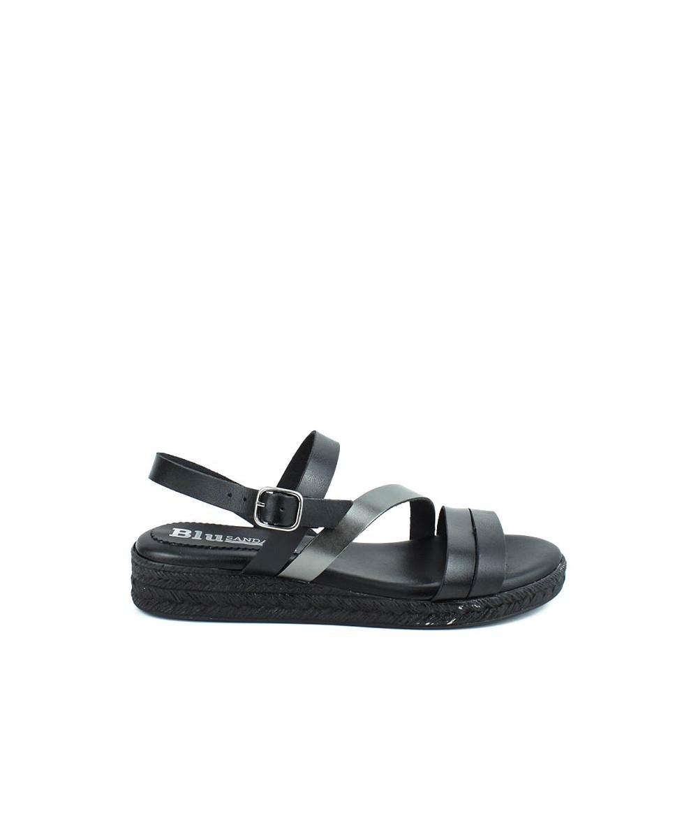 Sandalia - 1003 - Tiras Negra