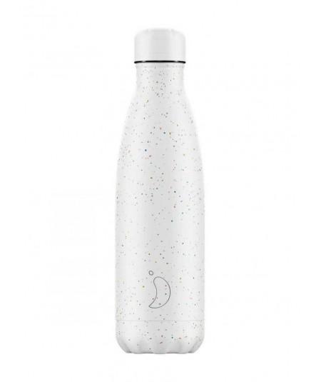 CHILLY´S - Botella moteada Blanca