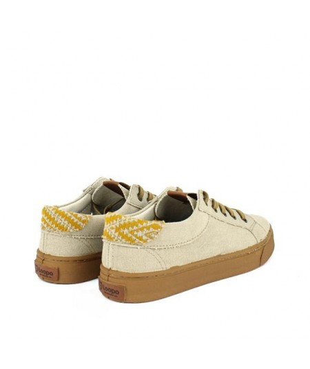 LOOPO GREEN - Zapatilla algodón Beige