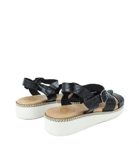 LOOPO - Sandalia negra pulsera coco