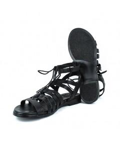 LOOPO - 1357 - Sandalia romana negro