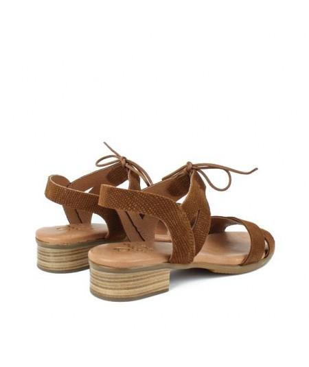 LOOPO - 1291 - Sandalia cordón cuero