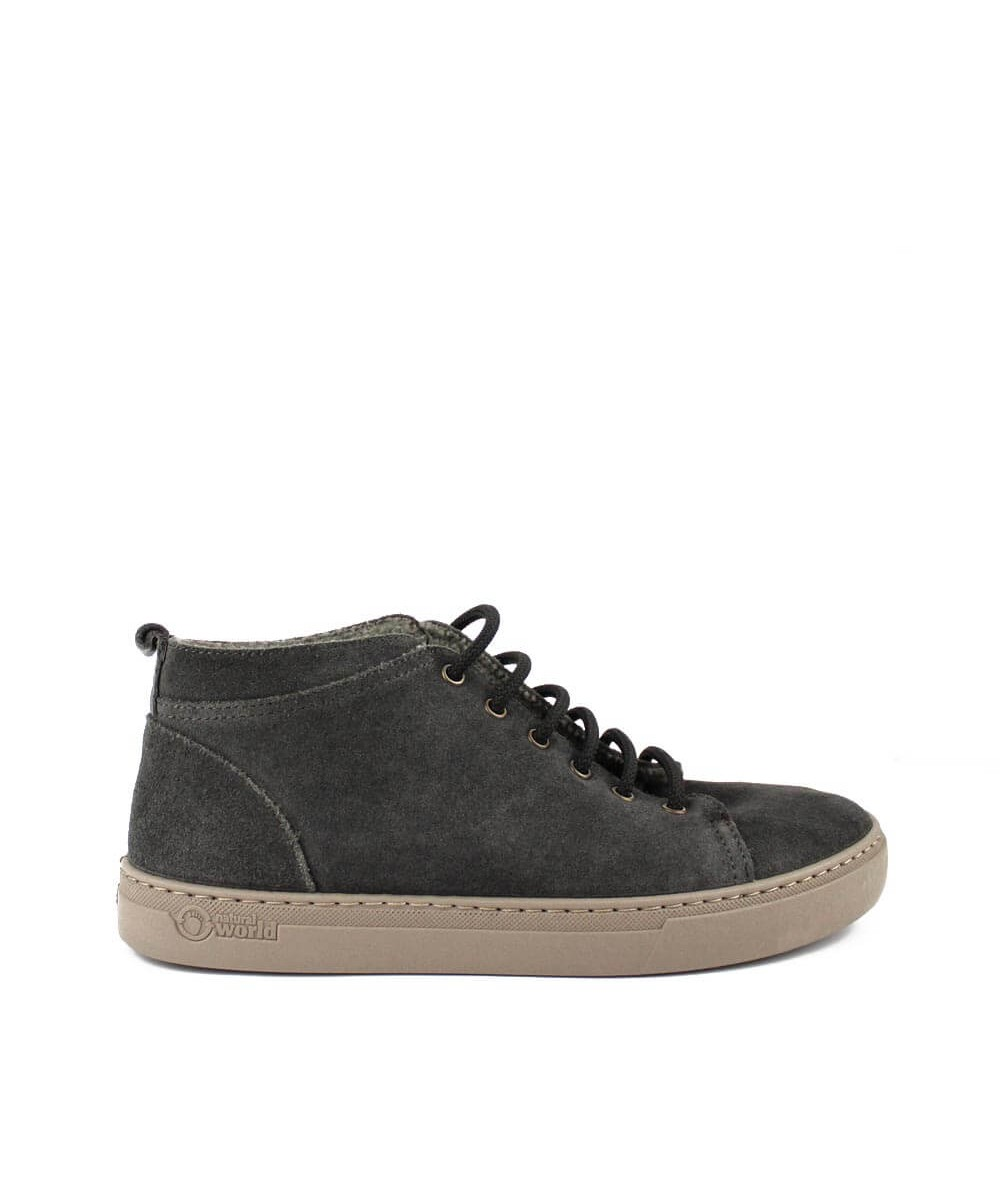 Botin Natural Wordl gris chico- lateral